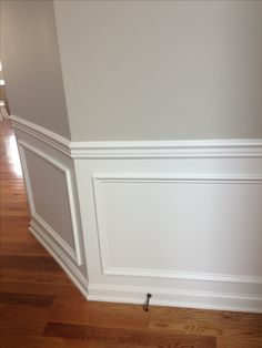 Beauty boxes and chair rail are a cost effective way to add some