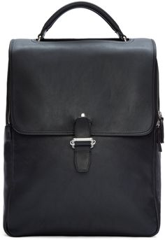 Maison Margiela - Black Leather Buckle Backpack 1350 EUR. 14 June 2016 on sale at Ssense was $1880, now $1316. 16x12.5x5.5 in.