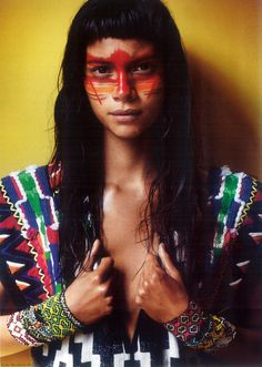 Perú in the April 2013 Vogue Paris magazine by Peruvian photographer, Mario Testino and Peruvian model, Juana Burga Cervera