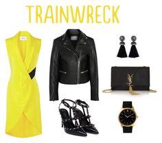 """#Trainwreck"" by definingmyworld ❤ liked on Polyvore featuring moda, Prabal Gurung, Valentino, Yves Saint Laurent, Alexander Wang, Lanvin, Larsson & Jennings ve trainwreck"