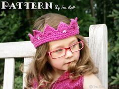 Free Princess Crown Tiara Crochet PDF Pattern ~ and many more for kids, etc.