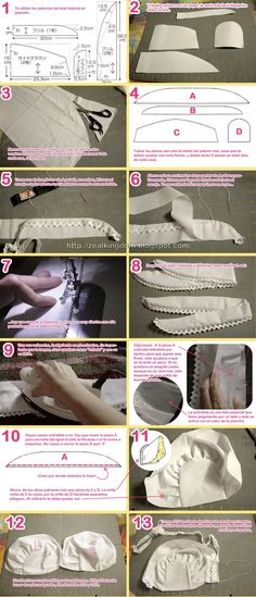 bonnet - tutorial part 1 Sewing Hacks, Sewing Tutorials, Sewing Projects, Sewing For Kids, Baby Sewing, Baby Patterns, Sewing Patterns, Baby Boy Outfits, Kids Outfits