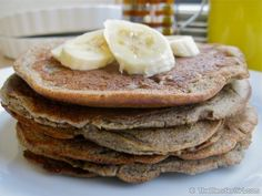 Gluten Free Vegan Banana Maple Cinnamon Pancakes