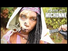 Naptural85 - Michonne Costume - DIY Michonne Costume - Cosplay - The Walking Dead Michonne - Jawless Zombie Pet - Zombie Makeup - Michonne's Jawless Zombie Pets - Awesome Halloween Costume - Awesome Cosplay