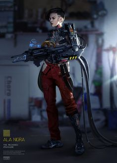 A scrapbook of cyberpunk visions to get you dreaming about the future to come. Cyberpunk 2077, Cyberpunk Girl, Arte Cyberpunk, Cyberpunk Character, Cyberpunk Fashion, Character Concept, Character Art, Character Design, Sci Fi Characters