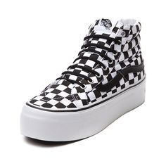 c80e7851318 Shop for Vans Sk8 Hi Platform Skate Shoe in Black White Chex at Journeys  Shoes.