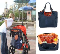 Navy Mandarin Satchel Diaper Bag | baby gear | designer diaper bag - $60 #mommycouturedesigns
