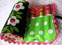 Here is a fabric (not felt) crayon roll tutorial.  I have made these as gifts for childrens birthday parties that my girls are invited to (when I dont have any money to buy a gift)  Also from skip to my Lou