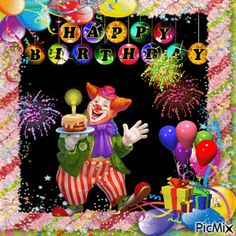 Happy Birthday Clown Animation birthday happy birthday happy birthday wishes birthday quotes happy birthday quotes birthday gifs happy birthday gifs birthday images birthday animations birthday image quotes happy birthday image Happy Birthday Clown, Birthday Cake Gif, Birthday Wishes For Kids, Happy Birthday Wishes Cards, Birthday Clips, Happy Birthday Images, Birthday Greetings, Sweet Birthday Quotes, Happy Anniversary Funny