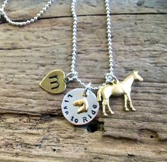 Horse Jewelry Personalized Riding Necklace Horse Hunter Jumper Rider Equestrian Horse Lover on Etsy, $18.00