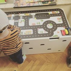 IKEA stuva hack Via train table, playroom, play room