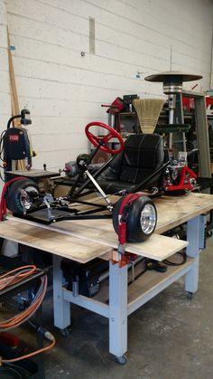 Custom built 3 wheeled go kart