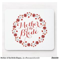 Shop Mother of the Groom Elegant Wedding Wedding Groom, Wedding Gifts, Custom Mouse Pads, Best Mother, Marketing Materials, Mousepad, Personalized Wedding, Mother Of The Bride, Elegant Wedding