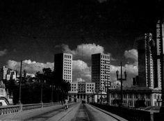 Viaduto Santa Teresa, com vista para o Edifício Sulacap-Sulamerica, na década de 50