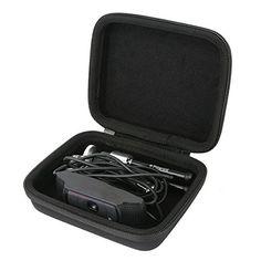 Teckone Hard Case Carrying Storage Bag For Logitech C920 / C930e Hd Pro Usb 1080p Webcam. For Polaroid Pltri8 21 Cm Mini Tripod - Black