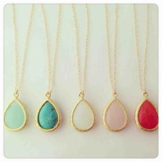 Delicate stone necklaces.  AKA if someone wanted to buy me something... this is a major hint