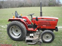 International 244 with center-mount mower.