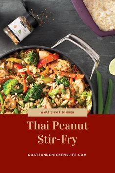 I love Thai food - so here's a quick and very easy recipe for Thai Peanut Stir-Fry. Try it once and you'll be hooked like I was. Epicure Recipes, Beef Recipes, Healthy Recipes, Yummy Recipes, Salmon Recipes, Asian Recipes, Healthy Stir Fry, Chicken Life, Quick Easy Meals