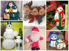 6 Muñecos navideños para decorar en Navidad-Moldes-DIY | Aprender ...