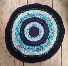 Free Crocheted Cotton Rag Rug with Pattern - GREAT TO ALSO USE AS CHART FOR INCREASING BY 6 IN THE ROUND!!!
