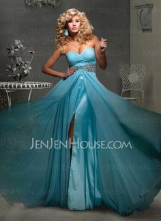 Prom Dresses - $137.99 - Elegant A-Line/Princess Sweetheart Floor-Length Chiffon Charmeuse Prom Dresses With Ruffle Beading (018004794) http://jenjenhouse.com/pinterest-g4794