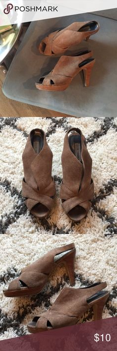 Brown Suede Steve Madden Heels My favorite pair of Steve Madden heels! Evidently loved and worn, but still have some miles left in them. 😊 Steve Madden Shoes Heels