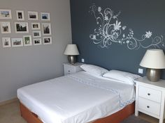 habitación de matrimonio, pintado con Pentrilo y vinilo Totpint
