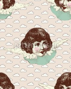 Angel Dust Repeating Pattern, designed by Alexandra Bolzer    High-quality Vector Pattern from patterndesigns.com