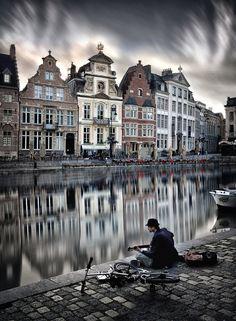 Moment in Ghent, Belgium by CarlesCarreras.