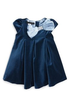 Biscotti Vision in Velvet Bow Dress (Baby Girls) available at #Nordstrom