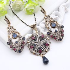 Luxuriant Turkish Royal Jewelry Sets For Women Antique Gold Color Crystal Drop Earrings Rhinestone Necklace India Ethnic Bijoux     Tag a friend who would love this!     FREE Shipping Worldwide     Buy one here---> http://jewelry-steals.com/products/luxuriant-turkish-royal-jewelry-sets-for-women-antique-gold-color-crystal-drop-earrings-rhinestone-necklace-india-ethnic-bijoux/    #jewelry