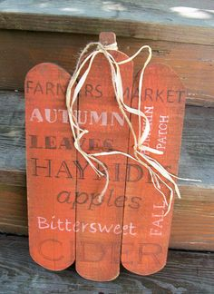 Fall Pumpkin sign. Cute for fall to hang on your porch or entryway.