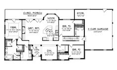 Floor Plans AFLFPW76023 - 1 Story Ranch Home with 3 Bedrooms, 2 Bathrooms and 2,016 total Square Feet
