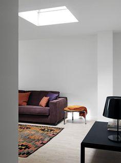 Wohnzimmer Mit VELUX Flachdach Fenster Flachdach Fenster, Frische Luft,  Tageslicht, Wohnbereich,