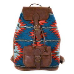 'Sunset + Waves' Backpack  - Manos Zapotecas || Committed to making sure the weavers receive a fair trade price for their intensive labors. By connecting these artisans with new markets, we can all help to perpetuate the superb artistry of the Zapotec people, and at the same time help to improve their lives and their community.