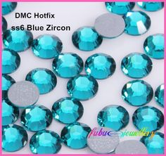 Free Shipping! 1440pcs/Lot, ss6 (1.9 2.1mm) High Quality DMC Blue Zircon Iron On Rhinestones / Hot fix Rhinestones-in Rhinestones from Home & Garden on Aliexpress.com | Alibaba Group