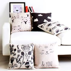 New Simple Geometric Pillow Case Cartoon Animal Sofa Cushion Cover Chair Bedding Hotel Decorative Pillowslip Free Shipping #Affiliate