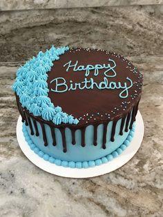 Elegant Birthday Cakes, Birthday Cakes For Men, Simple Birthday Cake Designs, Simple Cake Designs, Cake Design For Men, Birthday Wishes Cake, Buttercream Cake Designs, Buttercream Birthday Cake, Cake Decorating Frosting