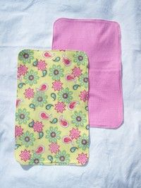 DIY burp rags- easy instructions even for a beginner seamstress like me!