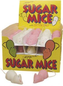 Buy Pink and White Sugar Mice with Cotton Tails online and in London, UK Vintage Food, Vintage Recipes, Sugar Mice, Food Gifts, Gourmet Recipes, Memories, London, Day, Pink