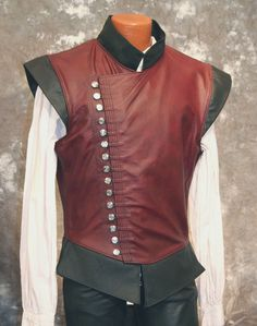 Jerkin Saberist Leather Doublet Vest #ravenswoodleather