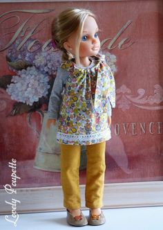 "Vêtements pour poupée Nancy - ""Adèle"" Nancy Doll, Girl Dolls, American Girl, Harajuku, Arts And Crafts, Etsy, 1970s, Vintage, Life"