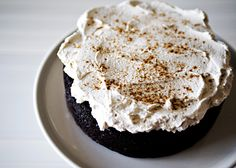 Mexican Chocolate Cake with Mascarpone Frosting.