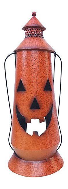 Halloween Pumpkin Rustic Large Lantern with Handle, – Metal Jack O Lantern Fall Decoration, Standing or Hanging, Holds Pillar Candle – Indoor, Outdoor – Pillar Candles İdeas. Large Lanterns, Rustic Lanterns, Metal Lanterns, Lanterns Decor, Hanging Lanterns, Halloween Lanterns, Halloween Pumpkins, Halloween Decorations, Fall Candle Centerpieces