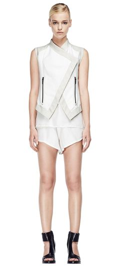 V S P Spring/Summer 2015 #vsp #leather #design #spring #summer #fashion #jacket Shearling Coat, Ss 15, Spring Summer 2015, Sophisticated Style, Peplum Dress, Rompers, Leather Design, Skirts, Jackets