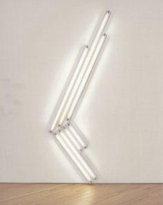by Dan Flavin Candle In The Dark, Light In The Dark, White Light, Abstract Sculpture, Sculpture Art, Dan Flavin, Lights Artist, Neon Design, Ex Machina
