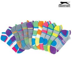 24 Pairs: Slazenger Women's Soft Cushion Ankle Socks at 71% Savings off Retail!
