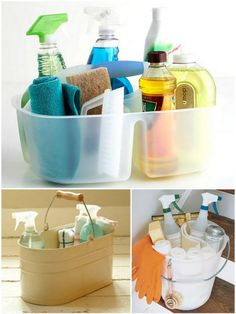 The Essential Household Cleaning Kit via Live Simply by Annie