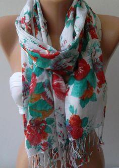 Shawl for Summer  / Elegance Shawl / Scarf / soft and by womann, $15.00