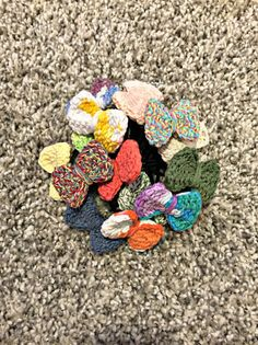 bouquet of hair ties ✌️ for orders and pricing email mmmcrochet@gmail.com or visit my shop from the link in my bio!